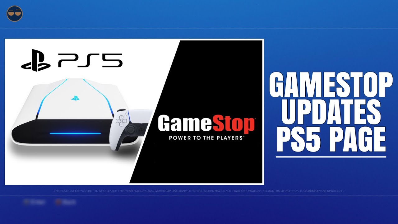 Playstation 5 Ps5 Gamestop Updates Ps5 Page Youtube