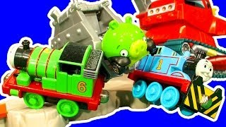 Hot Wheels Crane Crasher Angry Birds Pigs Vs Thomas The Tank Diesel 10 Chuggington Smash