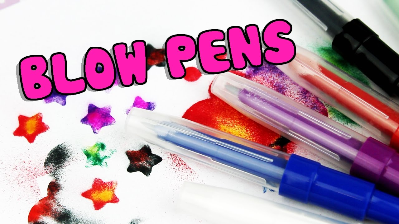 how to use blow pens