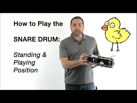 SNARE DRUM Beginner Lesson: Standing & Playing Position