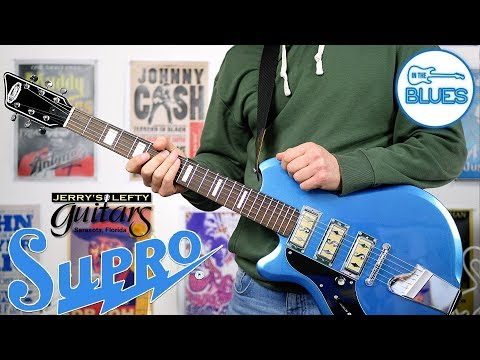 The Supro Hampton in Ocean Blue Electric Guitar - A Jerry's Lefty Guitars Exclusive!
