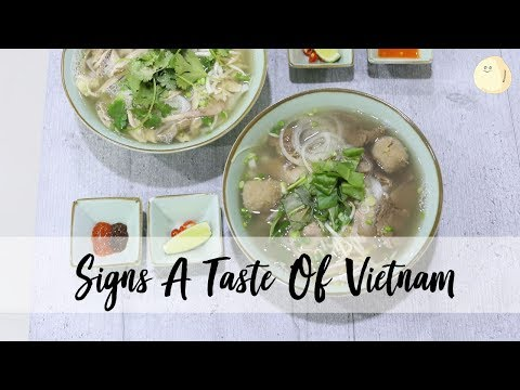 Signs A Taste Of Vietnam Pho - Vietnamese Pho Shop Run By Deaf Couple, At Orchard Road