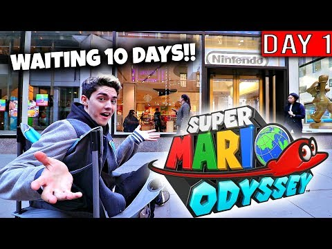 FIRST IN LINE FOR SUPER MARIO ODYSSEY OUTSIDE OF THE NINTENDO NY STORE!