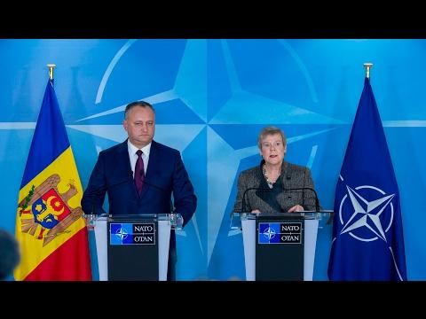 NATO Deputy Secretary General with the President of Moldova, 07 FEB 2017