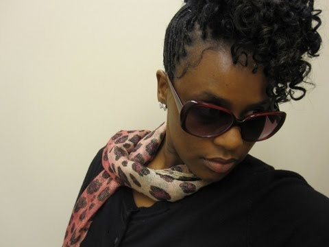Natural Hair Inspired Style On Micro Braids
