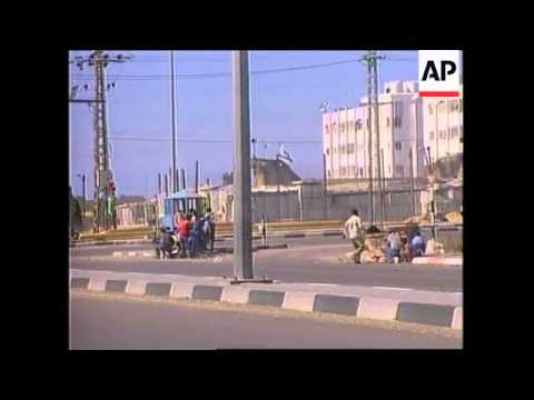 GAZA: PALESTINIANS/ISRAELIS IN GUN BATTLE