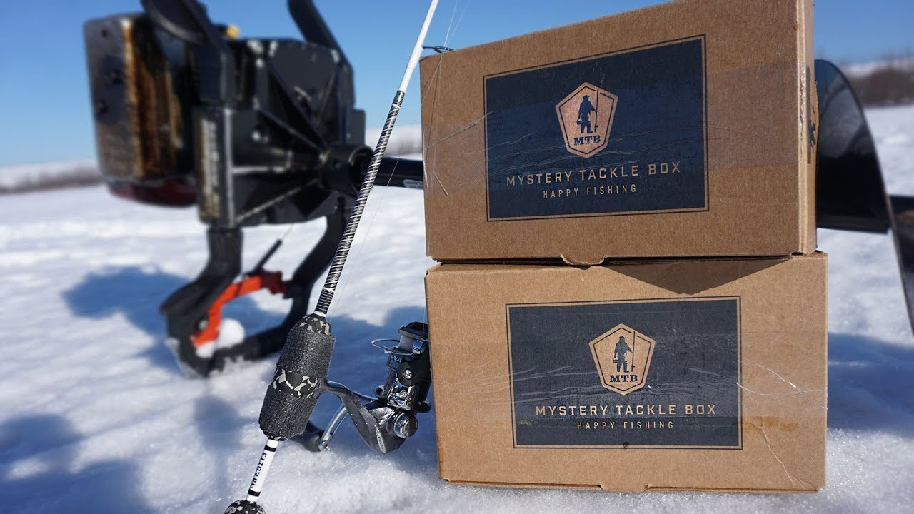 Mystery tackle box ice fishing panfish youtube for Fishing mystery box