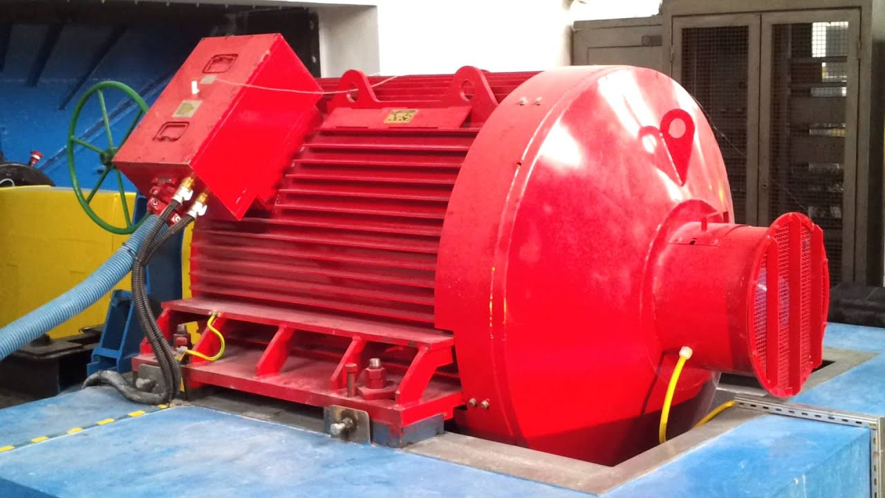 Run up of large 1100kw 500rpm line start permanent for Permanent magnet synchronous motor