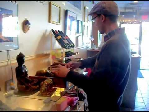 asian arts and singing bowl practice at Papa Store in Colorado