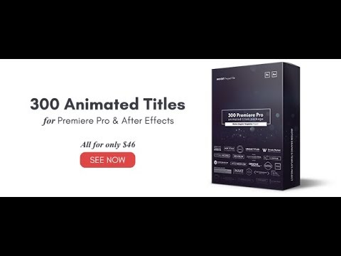300 animated titles for premiere pro after effects motion graphics template mogrt youtube. Black Bedroom Furniture Sets. Home Design Ideas