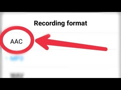 What Is AAC Format || How To Play AAC Sound Formet And Call Recording In Android