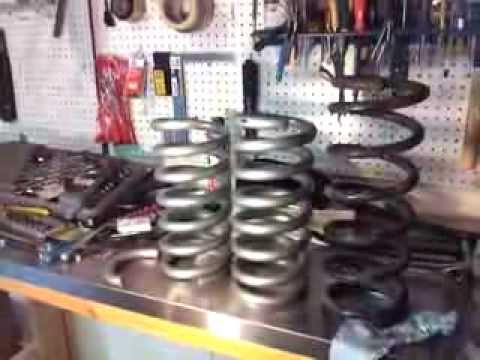 how to lower your car how to cut springs lowering springs eibach youtube. Black Bedroom Furniture Sets. Home Design Ideas