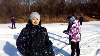 Река Артёмовка 27 февраля 2016(Путешественники гуляют по льду реки Артёмовки около моста в районе посёлка Штыково. Шкотовский район, Прим..., 2016-03-09T12:59:42.000Z)