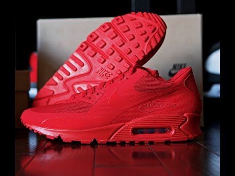Nikeid Air Max 90 5s Rouges Universitaires