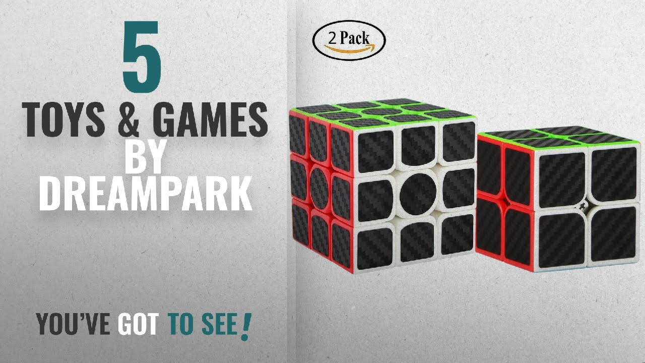 658eb6b7ce40 Top 10 Dreampark Toys & Games [2018]: Dreampark 2 Pack Speed Cube 2x2 3x3  Carbon Fiber Sticker Magic