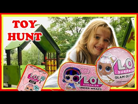 Scavenger Hunt At The Park for LOL Dolls Toy Hunt at the Dragon's Playground | Valentina ToysReview