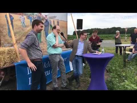 Duell der Felder: Diskussion mit Landwirtschaftsminister Meyer
