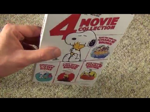 Peanuts 4 Movie Collection DVD Unboxing