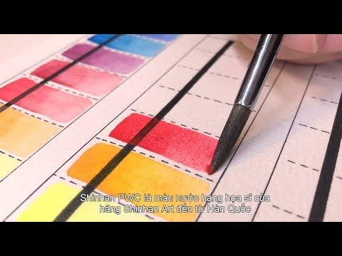[ Họa cụ Lỗ Store ] 16 loại màu nước – Phần 2 ( Review Watercolor – Part 2 ) | Lobeo ( Lỗ Béo )