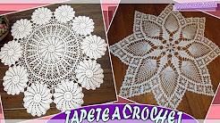 Tapete - Carpeta Con Patrones Tejidos a Crochet