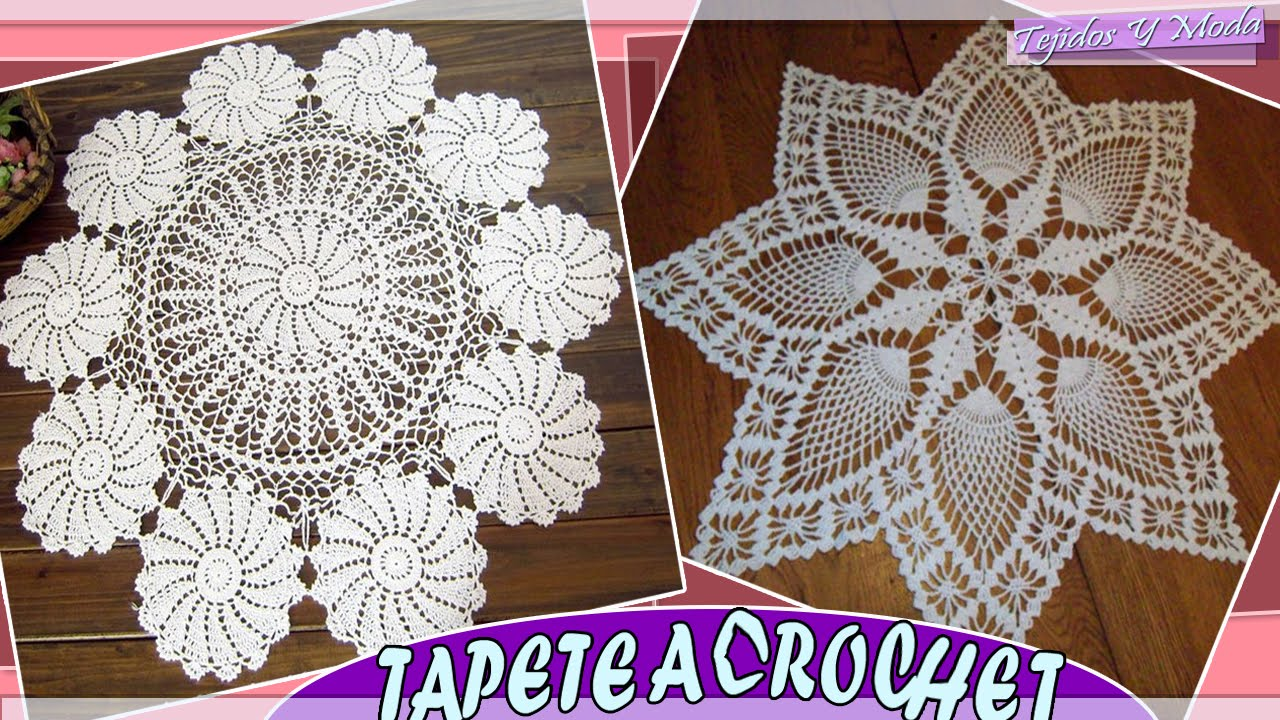 Tapete - Carpeta Con Patrones Tejidos a Crochet - YouTube