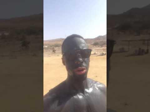 Worlds blackest man dead sea in jordan close to Amman