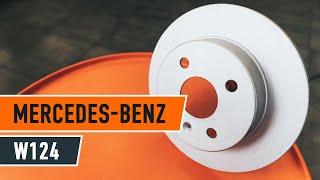 Kaip ir kada reikia keisti priekyje ir gale Stabdžių diskas MERCEDES-BENZ E-CLASS (W124): videopamokos
