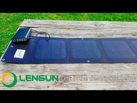 Lensun Awesome USB Solar Panel Mobile Phone Camera Charger  lastest ETFE laminated technology waterp