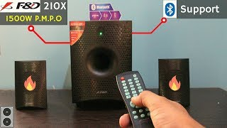 Unboxing & Review (SOUND TEST) Of F&D F210X 15W Portable Speaker | Best Budget Bluetooth 2.1 Speaker