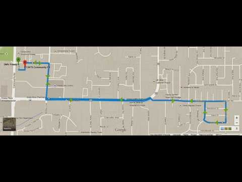 Poway DMV behind-the-wheel test route
