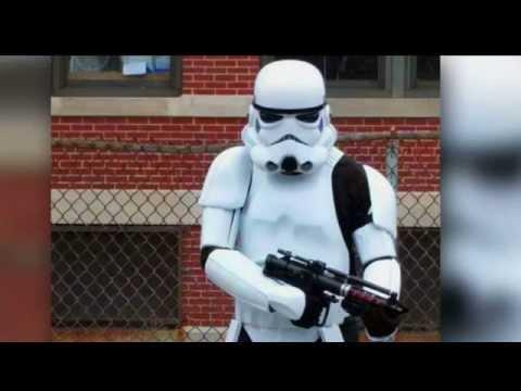 Man in 'Star Wars' storm trooper costume arrested