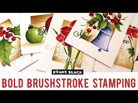 Bold Brushstroke Stamping