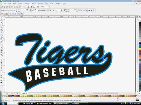 How to create athletic text with a tail in CorelDraw with Freelance Fridge