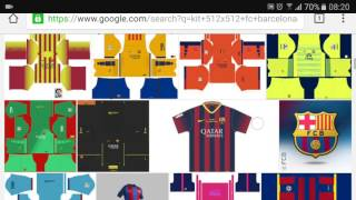 18d35ad4b How to get fc barcelon kit and logo in dream league