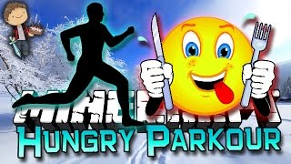 Minecraft: Hungry Parkour Race with Mitch and Jerome!