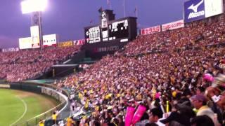 2011.07.12 巨人戦 素晴らしい逆転勝ちで見事勝利! 6番?新井のセンタ...