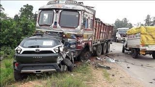 Top 10 : Tata NEXON Crash In INDIA | India First Safest Car ! ! ! #SuperSonic