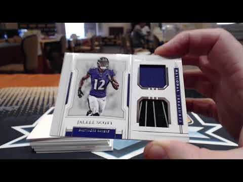 2018 Panini National Treasures Football 4 Box Case Break #1