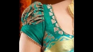 Bridal Puff Sleeves Blouse Cutting & Stitching TAMIL