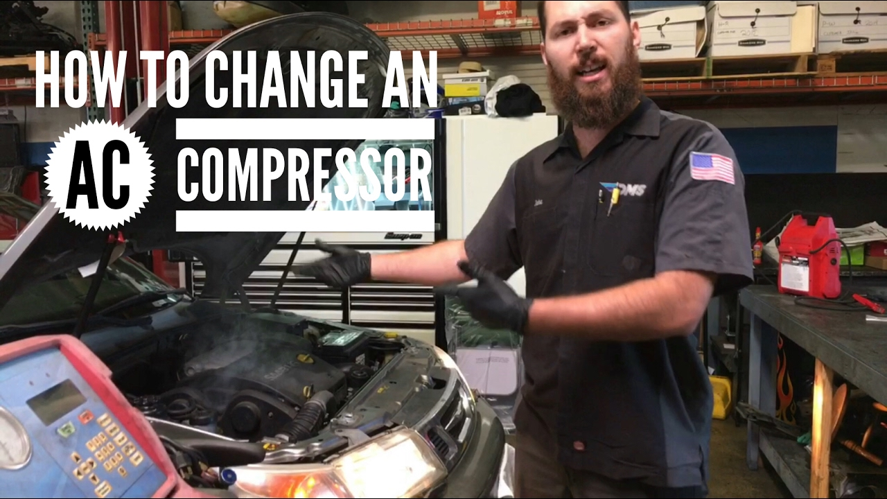 Changing a noisy AC compressor - How to get cold air conditioning