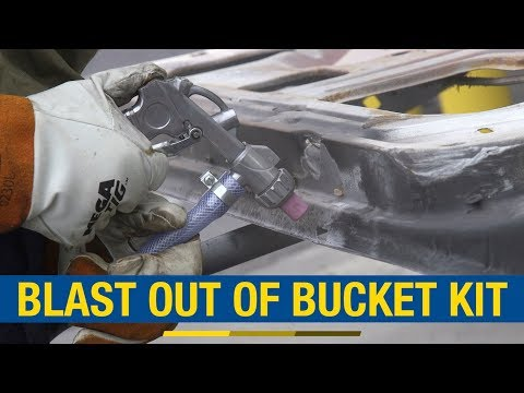 Remove Paint & Rust - Media Blasting Without A Big Investment! Eastwood Blast Out Of Bucket Kit!