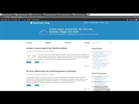 CleanTalk — SpamFireWall Option Help Video