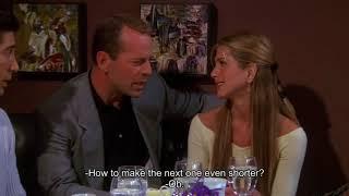 Друзья S06E21 Росс и Элизабет, Рейчел и Пол Стивенс ужин вместе ( Брюс Уиллис )