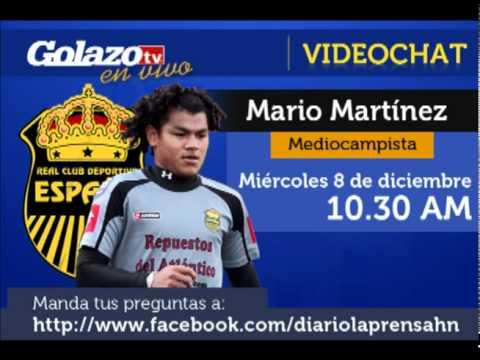 Video Chat De GolazoTV: Mario Martínez