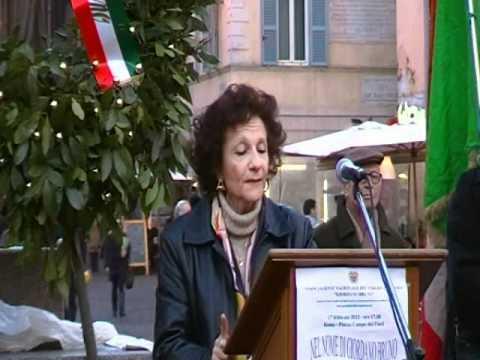 Campo dei Fiori, 17 Febbraio 2012 - Intervento di Maria Mantello