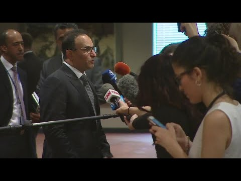 Kuwait on draft resolution to protect Palestinian civilians - Media Stakeout (15 May 2018)