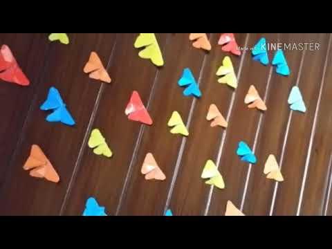 DIY butterflies wall decor  how to make wall butterflies with paper  Meerab Sohail 9