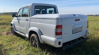 Взял УАЗ с автоматом, нагрузил и втопил. Тест  на трассе с полутонной сзади! 500+ кг с нагрузки.