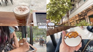 🌧 rainy day study vlog 🌧