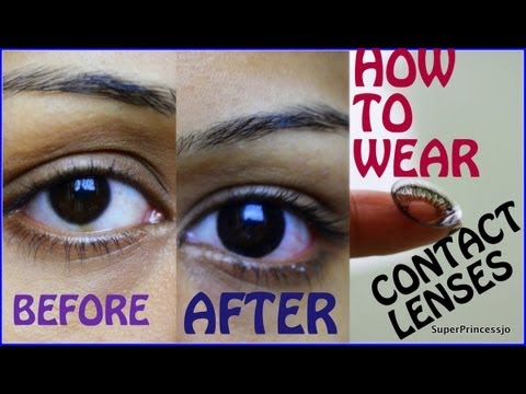 51ce4723125 How To Wear Contact Lenses For First Time Tutorial
